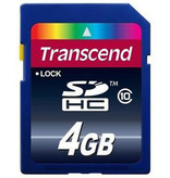 Transcend Transcend Premium SDHC 4 GB SD kaart