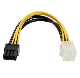Overig PCI-E 6 pin male to 8 Pin female 10 CM lang