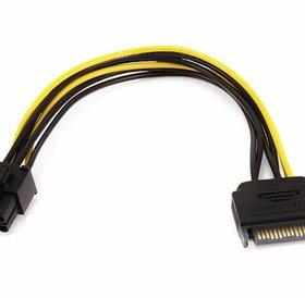 Overig Sata male naar PCI-E 6 pin female 12 cm lang