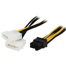 Overig 2 X Molex Male naar PCI-E 8 pin female 10 cm lang