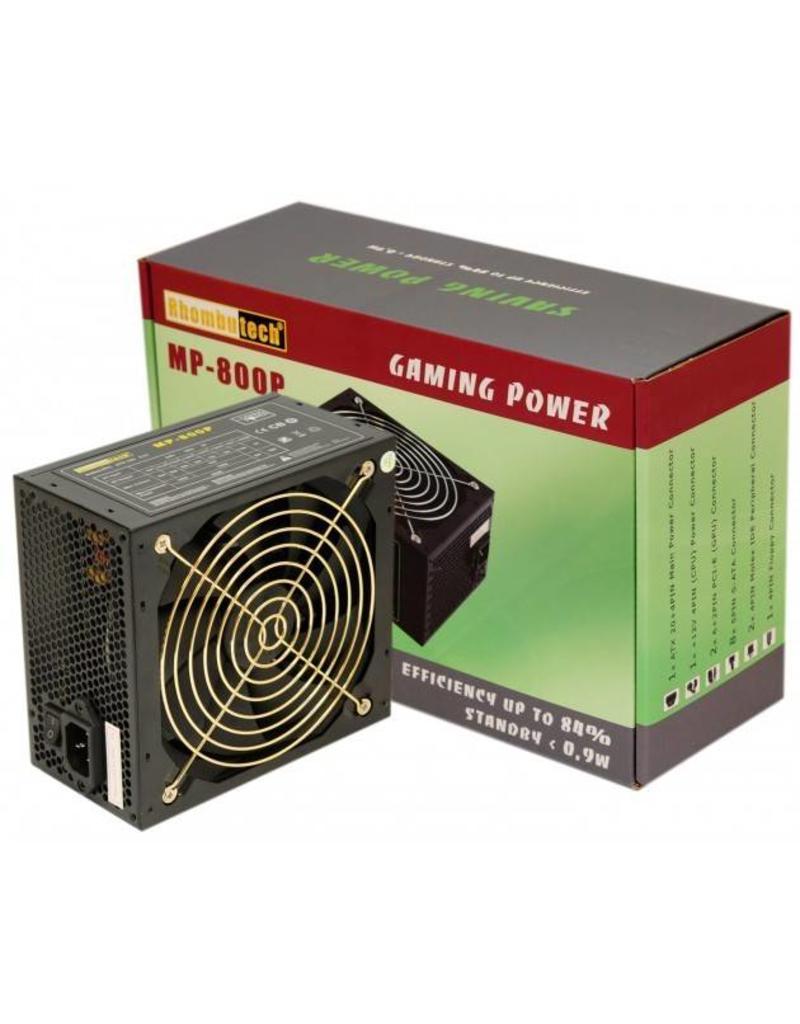Rhombu-Tech Brons 800 watt ATX PC voeding Vaste bekabeling