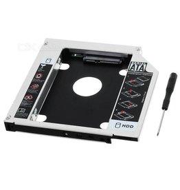 Overig Second HDD Slim Caddy 9.5 mm dik voor vervanging DVD speler