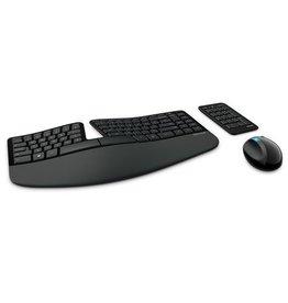 Microsoft Microsoft Sulpt Egronimoc Desktop toetsenbord en muis
