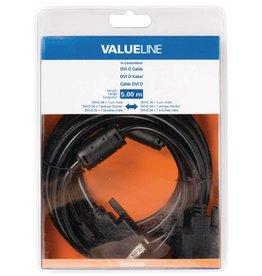 Valueline DVI-D DVI kabel 5 meter