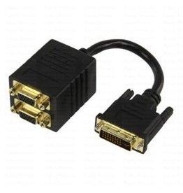 DVI (M) naar 2x VGA (F) 0,1 meter