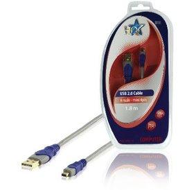HQ HQ USB A 2.0 (M) naar USB Mini 2.0 (M) 1.8 meter