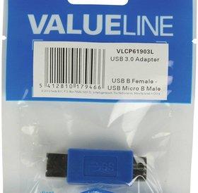 Value Line Valueline USB B (F) naar USB Micro B (M) adapter