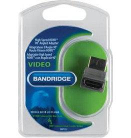 Bandridge HDMI (M) naar HDMI (F) adapter hoek 90 graden