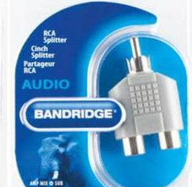 Bandridge Bandridge Tulp (M) naar 2x tulp (F) adapter