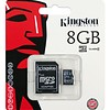 Kingston 8 GB Micro SD Card met converter naar SD