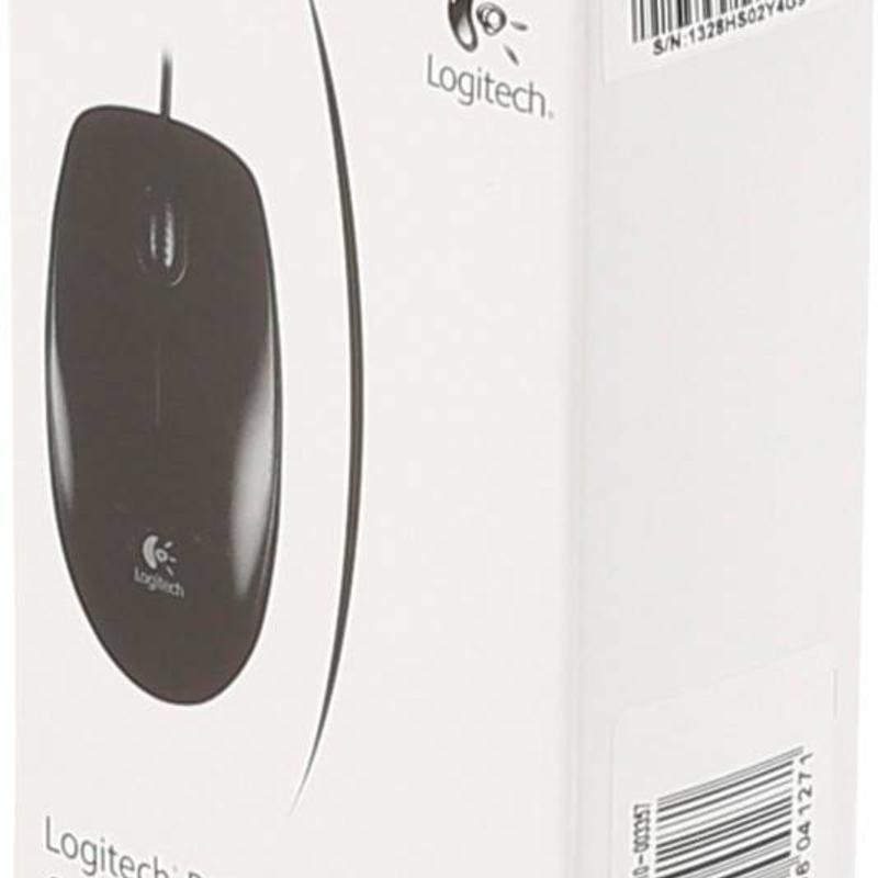 Logitech Logitech B100 Optische muis Zwart met kabel USB