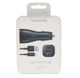 Samsung Samsung Car Adapter Dual Fast Charger USB C, 5V 2A Black / Samsung Dubbele Auto Snel Lader USB C 5V 2A Zwart