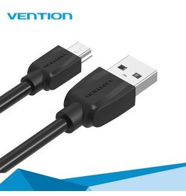 vention Vention USB 2.0 (M) naar Mini 2.0 (M) 1 meter zwart