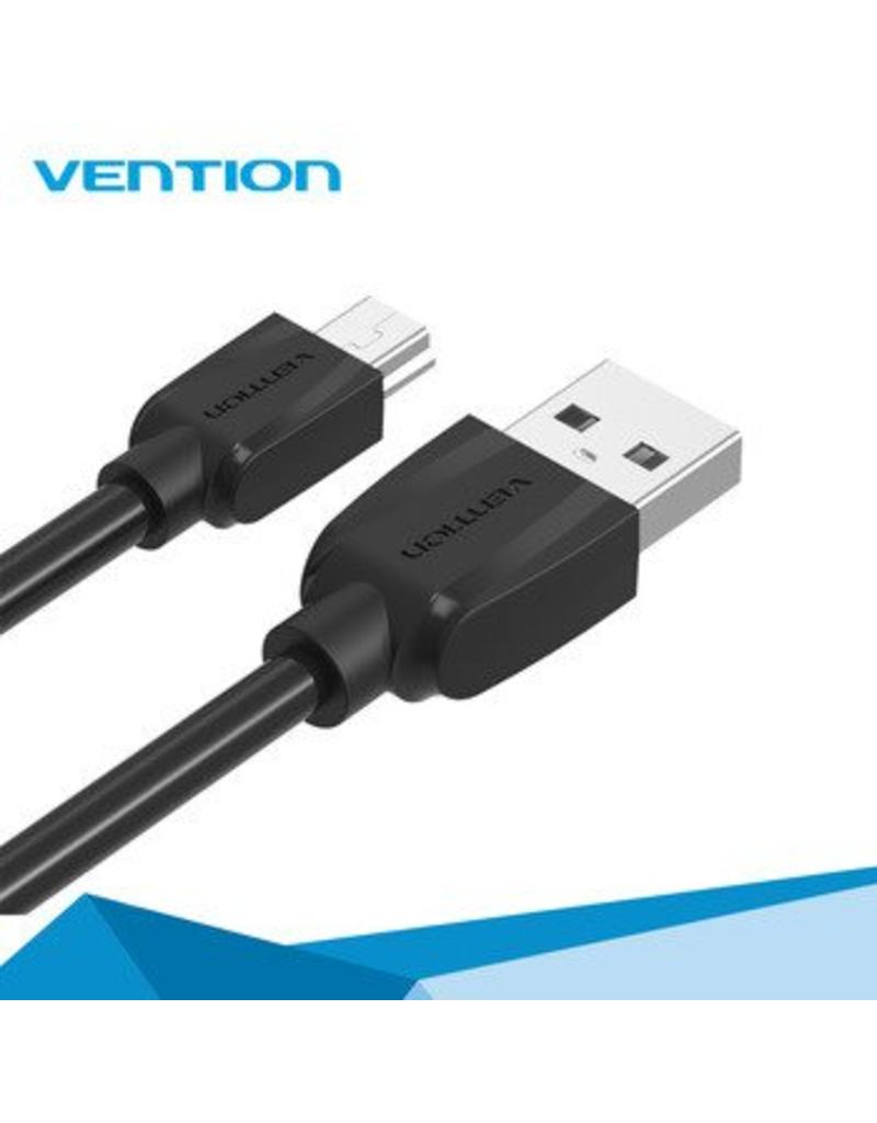 vention Vention USB 2.0 (M) naar Mini 2.0 (M) 1 meter zwart
