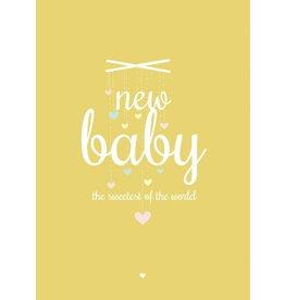 PETITE LOUISE KAART 'NEW BABY'