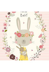 Nikki Upsher NIKKI UPSHER KAART 'NEW BABY' ROZE