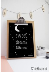 SWEET DREAMS MAAN A4 POSTER