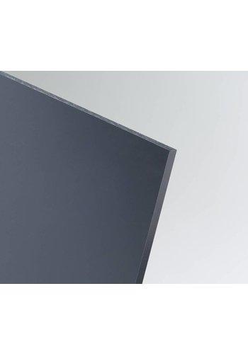SIMONA Hart-PVC Kunststoffplatte Dunkelgrau