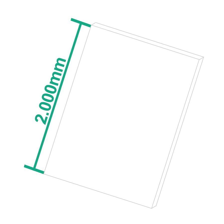 PE-HD Kunststoffplatte Natur