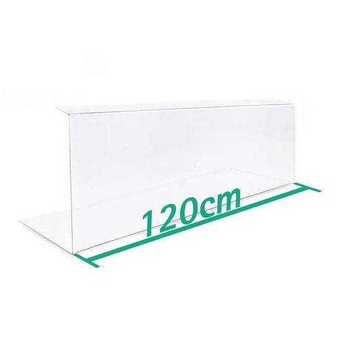 A+H Kunststoffe 120cm | Spuckschutz Hustenschutz | Typ 2 | 4-6 mm dick