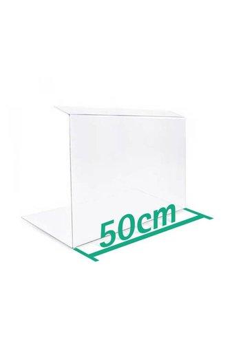 A+H Kunststoffe Spuckschutz Thekenaufsatz 50cm Typ 2