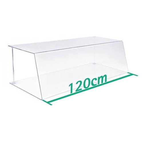A+H Kunststoffe 120cm | Spuckschutz Hustenschutz | Typ 1 | 4-6 mm dick