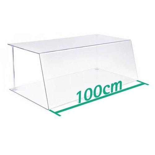 A+H Kunststoffe 100cm | Spuckschutz Hustenschutz | Typ 1 | 4-6 mm dick