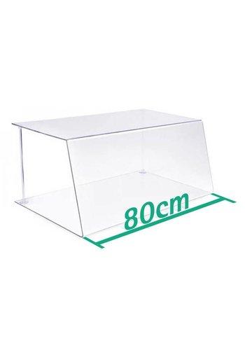 A+H Kunststoffe Spuckschutz Thekenaufsatz 80cm Typ 1