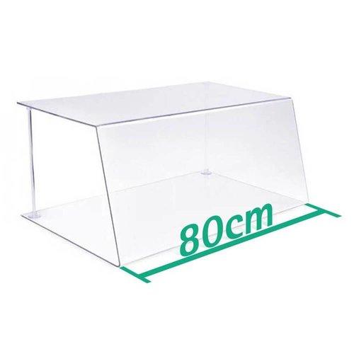 A+H Kunststoffe 80cm | Spuckschutz Hustenschutz | Typ 1 | 4-6 mm dick