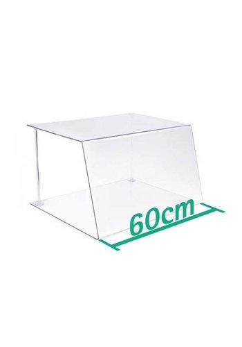 A+H Kunststoffe Spuckschutz Thekenaufsatz 60cm Typ 1