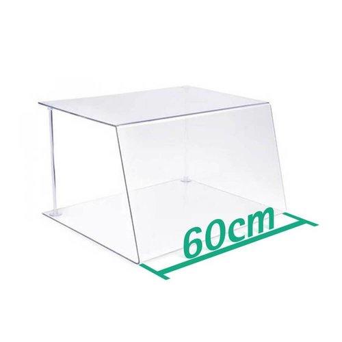 A+H Kunststoffe 60cm | Spuckschutz Hustenschutz | Typ 1 | 4-6 mm dick