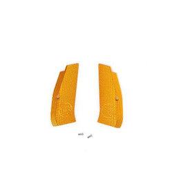 ASG Grip shells, Orange aluminiumn, CZ logo, For CZ Shadow SP-01