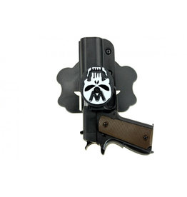 WE WE Double Barrel Holster (Black -Skull