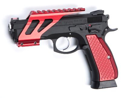 ASG SP-01 CZ Shadow cnc rail mount in red