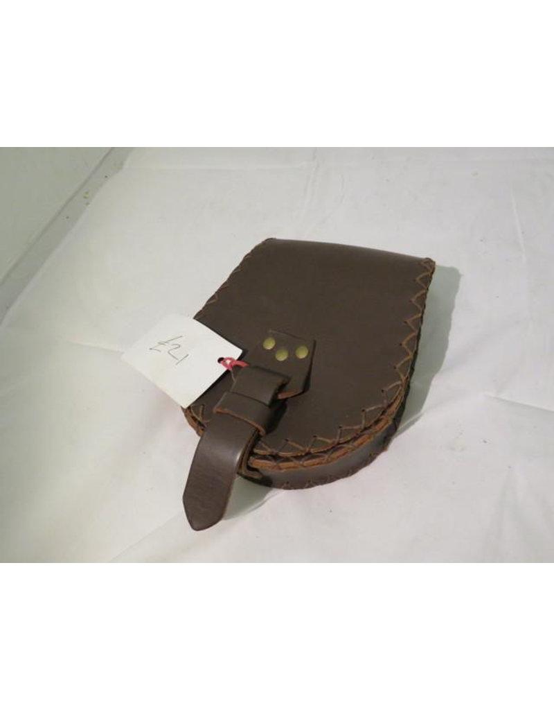 Lamellar Medium Brown Belt Pouch