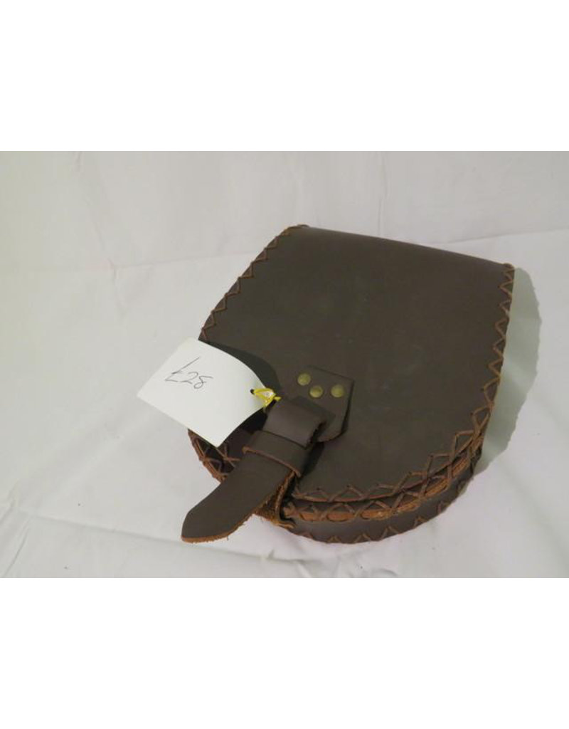 Lamellar Medium Brown Belt Pouch