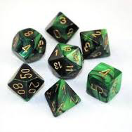 Gemini Poly 7 Set Astral Black-Green/Gold