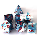 """1 set of 7 Polyhedral dice by Chessex """"The coolest dice on the planet""""."""