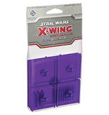 Fantasy Flight X Wing Mini Game Purple bases and pegs accessory