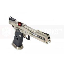 Armorer Works Armourer Works Custom Race Gun - Hi-Capa GBBP, Dragon Silver Slide & Black Grips HX2201