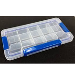 The Benson Box is a plastic organizational box perfect for sorting and storing tokens, model bits, etc.  The inside walls are removable to allow room for bigger pieces.<br /> <br /> Box Dimensions - 9W x 4.6L x 1.5H (229 x 117 x 38 mm)