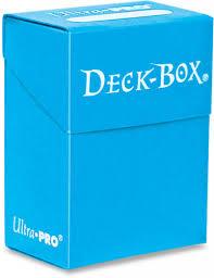 Ultra Pro Light Blue Deck box