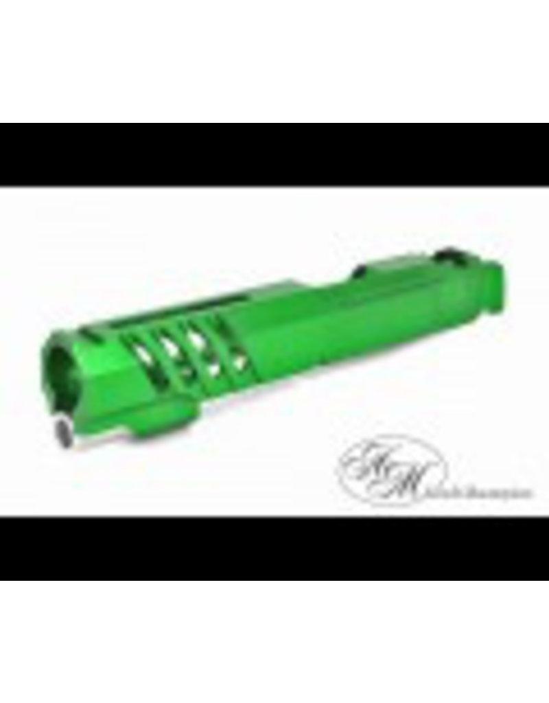 "Airsoft Masterpiece Airsoft Masterpiece Custom ""Saber"" Standard Slide for Hi-Capa/1911 (Green)"