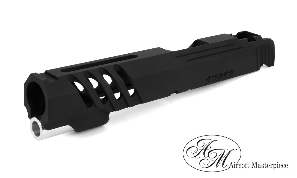 "Airsoft Masterpiece Airsoft Masterpiece Custom ""Saber"" Standard Slide for Hi-Capa/1911 (Black)"