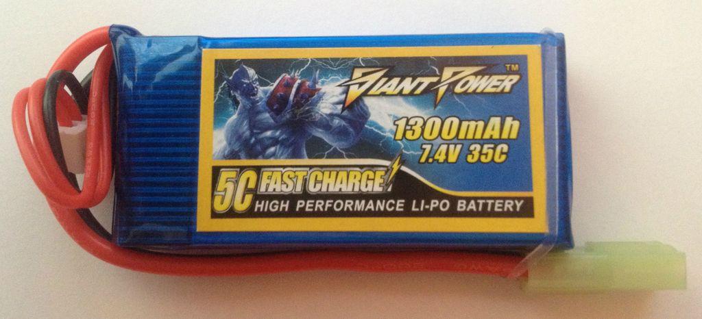 Giant Power Giant Power 7.4v 1300 mAh 35C / 70C LiPO Battery