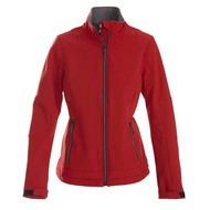 Geocaching Softshell jacket dames rood