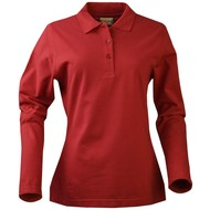 Geocaching Polo dames LS rood