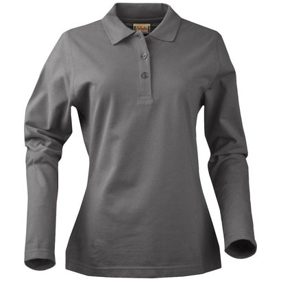 Geocaching Polo  dames LS staalgrijs