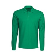 Geocaching Polo heren LS frisgroen