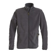 Geocaching Fleece jacket heren staalgrijs